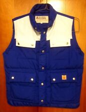 ACADEMY BROADWAY med snap-front vest 1980s puffy goose down Camping