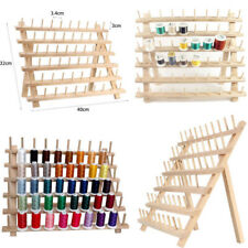 60 Spool Wood Sewing Thread Stand Organizer Craft Embroidery Storage Holder Rack