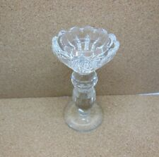 1X New Crystal Lotus Candle Holder 12.5cm High