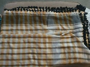 MENS SCARF YELLOW/BLACK CHECKED SCARVES SHAWL ARABIC SHEMAGH HEAD WRAP/INDIAN
