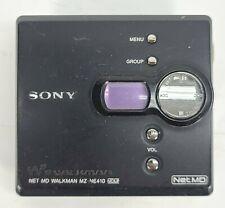 Sony Net Md Walkman Model Mz-Ne410 Portable Mini Disc Player Recorder Black