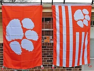 CU Clemson University Tigers Flag 3X5 Sports Football Banner