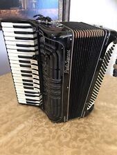 Paolo Soprani Black Accordion/Akkordeon Made In Italy 41 Key & 120 Bass