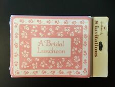 Vintage Hallmardk Bridal Luncheon Set Of 8 Invitations & Envelopes In Sealed Pkg