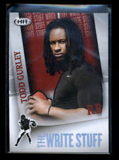 TODD GURLEY 2015 SAGE HIT #4 THE WRITE STUFF ROOKIE RC AD485