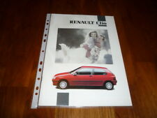 Renault Clio Prospekt 03/1992
