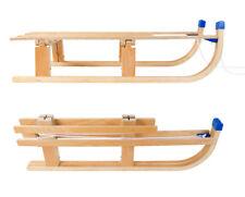 klapp-schlitten en bois avec ligne de train 110x30 cm Piste luge neige enfants