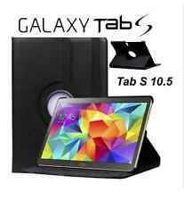 Black Premium Samsung Galaxy Tab S 10.5 T800 Rotate 360 Leather Case Cover