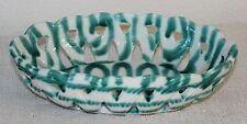 Gmundner Keramik durchbruch Schüsserl, grün geflammt, gebraucht