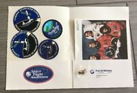 Lot of 6 NASA Space Shuttle Mission STS-88 Iron On Patch, Pin, Photo, Stickers