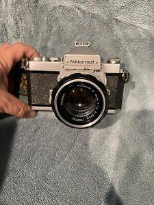 Nikon Nikkor 50mm f1.4 Nikkor-S lens And Nikkormat Camera 35mm Working