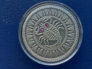 Scorpio Zodiac of the Sign 20 Roubles Silver Coin With Crystals Belarus (01)
