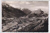 Ansichtskarte Bad Reichenhall - Ortsansicht mit Bergpanorama - schwarz/weiß