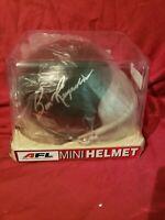 Burt Reynolds Signed Mini Helmet Certified by Celebrity Authentics