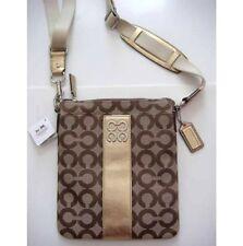 NWT COACH Julia Op Art Signature Swingpack 44245 - Khaki/Bronze - Rare