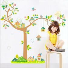 Removable Happy Bird Cage Tree Wall Stickers Bedroom Wall Sticker Home Decor S