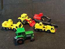 Old Vtg Diecast Matchbox Superfast Construction LOT Tractor Shovel Crane Toy