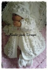 Knitting Pattern #97 - Matinee Set for 0-3m Baby