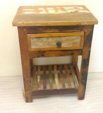 Rustic one Drawer Lamp Table with shelf - Bedside Table