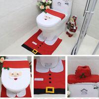 Weihnachtsmann Badezimmer Set Toilettenmatte Toilettenbezug WC Weihnachten DEKO