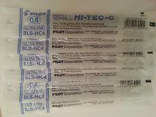 Pilot Hi-Tec-c Gel Pen Refill 0.4mm (6 BLUE)