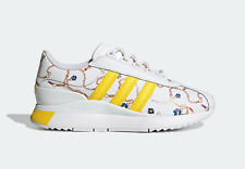 adidas Originals Womens SL Andridge Shoes in White and Yellow Leather Trainers