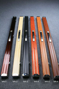 Deluxe Lightweight Aluminum 3/4 Jointed Pool Cue Snooker Cue Billiard Cue Case