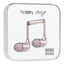 Happy Plugs Deluxe Wired In-ear Earphones With in Line Remote and Microphone -