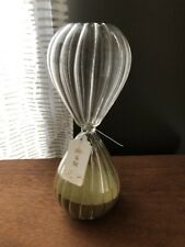 """Sands Of Time Hour Glass -Green Sand- NWT 9"""""""
