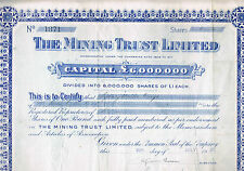 THE MINING TRUST LIMITED 1929 SHARE CAPITAL £6000000