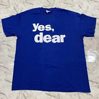 Vintage 90s Yes, Dear TV Promo Blue T-Shirt Men's Large Crew Neck Spell Out