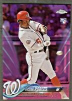 2018 Topps Chrome Update VICTOR ROBLES Rookie PINK REFRACTOR #HMT22