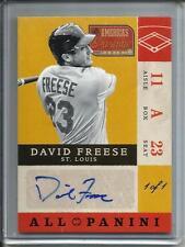 David Freese 2012 Panini America's Pastime Autograph #1/1