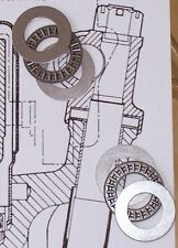 MGB & MGC king pin needle roller thrust bearings plus ultra thin shim set