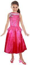 Le Ragazze Ufficiale Rosa Barbie Principessa Abito/Costume/VESTITO UP COSTUME ETÀ 3-5