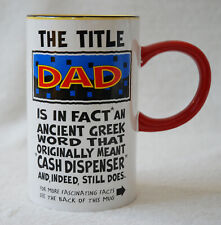 THE TITLE DAD FASCINATING FACTS - High Slim Mug for Dad