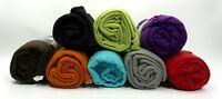 """Super Soft Fleece Blanket 50"""" x 60"""" Assorted Colors Indoor Outdoor Use"""
