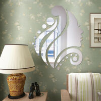 Removable Mirror Beauty Wall Sticker Modern Decal Art Mural Home Room DIY Decor