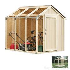Shed Storage Kit 2x4 Metal Garden Building Peak Style Roof Doors Steel Outdoor