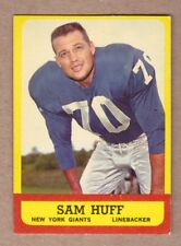 1963 Topps #59 Sam Huff, New York Giants Near Mint condition no creases