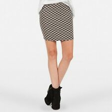 NEW VOLCOM JUNIOR'S UP NEXT SKIRT HIGH WAISTED BODY CON FIT SIZE SMALL  PP136