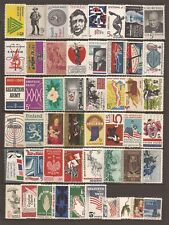 US,  50 different 5c stamps of 60's, MNH