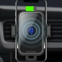 Smart Induction Car Wireless Charger Qi Standard Mobile Phone Fast Wireles S3Z8