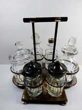 "ANTIQUE 1868 MAPPIN & WEBB""S PRINCE'S SILVER PLATE CONDIMENT CRUET SET CADDY"