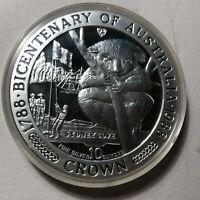 1988 Isle of Man, Bicentenary of Australia 10 Ounce Silver Coin w/ Box and COA
