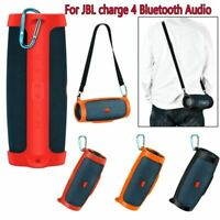 Silicone Storage Carry Case Bag +Strap for JBL charge4 Bluetooth Audio Speaker