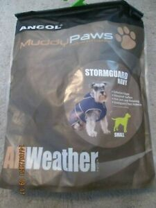 Ancol Muddy Paws Stormguard with Fleece Lining Small Size Dog Coat - Navy