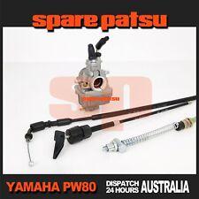 Service Pack of Yamaha Pw80 Carburetor, Front Brake, Choke & Throttle Cable