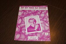 1950 Get Out Those Old Records Carmen Lombardo John Loeb AS IS Sheet Music