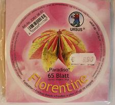Faltblätter Florentine Paradiso 01; 65 Blatt D: 10 cm 80 g/qm